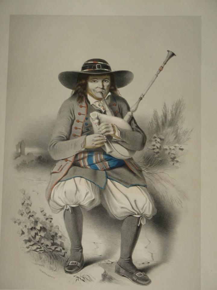 Joueur de biniou au 19° siècle