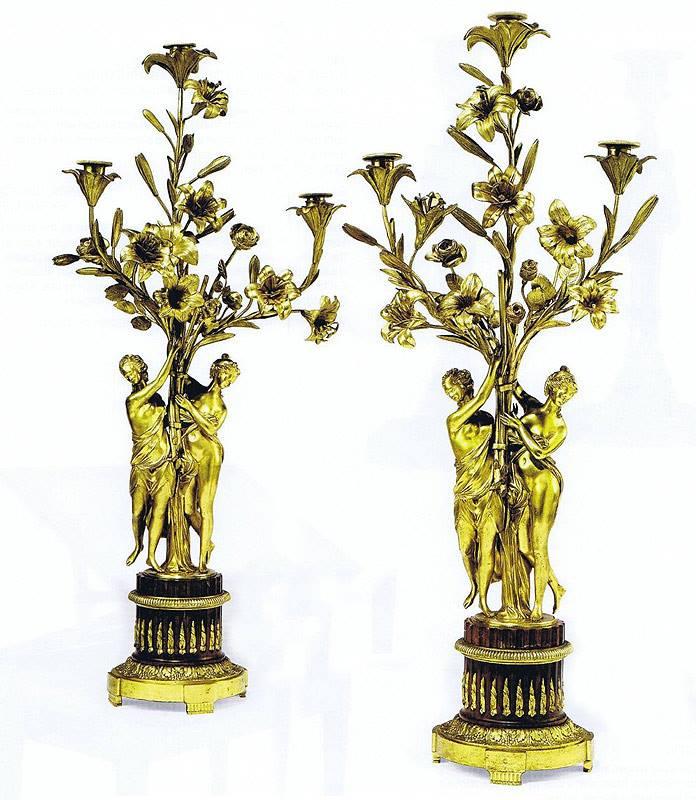 candélabres créés par Falconet