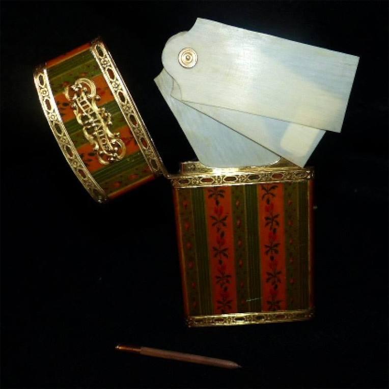 Carnet de bal époque Louis XVI